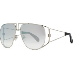Givenchy Silver-tone Aviator-style Sunglasses found on MODAPINS from Harvey Nichols for USD $359.19