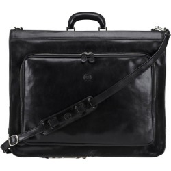 Maxwell Scott Bags Mens Quality Black Italian Leather Suit Garment Carrier found on Bargain Bro UK from Harvey Nichols