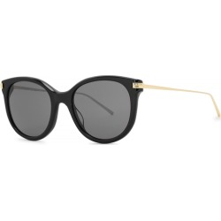 Boucheron Black Oval-frame Sunglasses found on MODAPINS from Harvey Nichols for USD $712.88