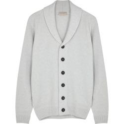 John Smedley Crestwood Light Grey Wool-blend Cardigan found on MODAPINS from Harvey Nichols for USD $445.77