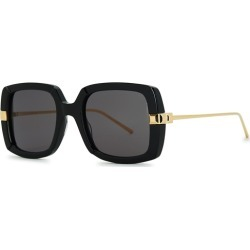 Boucheron Black Square-frame Sunglasses found on MODAPINS from Harvey Nichols for USD $759.06