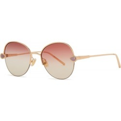 Boucheron Gold-plated Oval-frame Sunglasses found on MODAPINS from Harvey Nichols for USD $1063.98