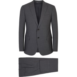 Armani Collezioni M-Line Charcoal Stretch Wool Suit found on MODAPINS from Harvey Nichols for USD $1018.68