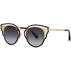 Jimmy Choo Dhelia Black Cat-eye Sunglasses found on Bargain Bro UK from Harvey Nichols