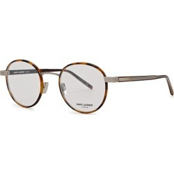 Saint Laurent SL 125 Brown Round-frame Optical Glasses found on Bargain Bro UK from Harvey Nichols
