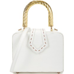 Mehry Mu Fey Mini White Leather Top Handle Bag found on Bargain Bro UK from Harvey Nichols