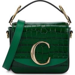 Chloé Chloé C Mini Green Leather Cross-body Bag found on Bargain Bro UK from Harvey Nichols