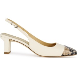 Aeyde Drew 65 Cream Leather Slingback Pumps found on MODAPINS from Harvey Nichols for USD $324.38