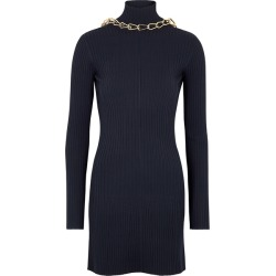 Dion Lee Lustrate Navy Chain-embellished Mini Dress found on MODAPINS from Harvey Nichols for USD $1825.72
