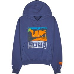 Heron Preston Heron Cutout Blue Printed Cotton Sweatshirt found on MODAPINS from Harvey Nichols for USD $491.04