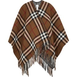 Burberry Checked Reversible Wool Cape found on MODAPINS from Harvey Nichols for USD $1130.79