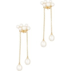 Anissa Kermiche Wuthering Heights 14kt Gold Drop Earrings found on MODAPINS from Harvey Nichols for USD $452.32