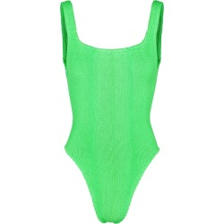Hunza G Classic Neon Green Seersucker Swimsuit found on MODAPINS from Harvey Nichols for USD $165.65