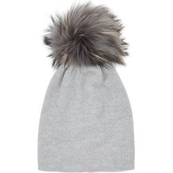 Inverni Paola Light Grey Pompom Cashmere Beanie found on MODAPINS from Harvey Nichols for USD $343.84