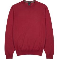 BOSS Pacas Dark Red Cotton Jumper found on MODAPINS from Harvey Nichols for USD $150.09