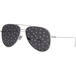 Saint Laurent SL193 Silver Aviator-style Sunglasses found on Bargain Bro UK from Harvey Nichols