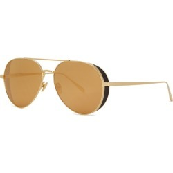 Linda Farrow Luxe Mirrored Aviator-style Sunglasses found on MODAPINS from Harvey Nichols for USD $1251.01