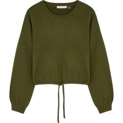 Alice + Olivia Bernetta Army Green Wool-blend Sweatshirt found on Bargain Bro UK from Harvey Nichols