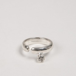 Cornelia Webb Crystalised Open Ring S Silver found on MODAPINS from Harvey Nichols for USD $215.35