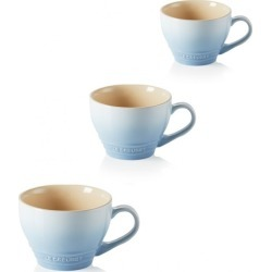 Le Creuset Set Of 3 Stoneware Grand Mugs Coastal Blue found on Bargain Bro UK from Harvey Nichols