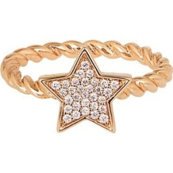 Alinka Jewellery Stasia Single Star Ring Braided Yellow Gold found on MODAPINS from Harvey Nichols for USD $1903.24