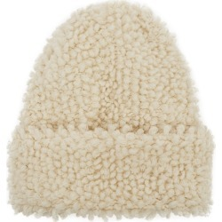 Inverni Giulia Cream Bouclé-knit Cashmere Beanie found on MODAPINS from Harvey Nichols for USD $343.84