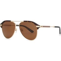 Gucci Tortoiseshell Aviator-style Sunglasses found on Bargain Bro UK from Harvey Nichols