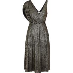 Alice + Olivia Black And Gold Metallic Draped Dress found on Bargain Bro UK from Harvey Nichols