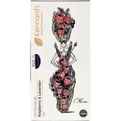 Kennard's Artisan Chocolates Charlotte Posner Raspberry & Lavender Chocolate Bar 100g found on Bargain Bro UK from Harvey Nichols