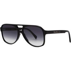 CELINE Eyewear Black Aviator-style Sunglasses found on Bargain Bro UK from Harvey Nichols