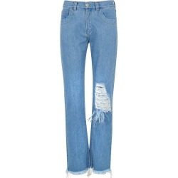 Marques' Almeida Blue Distressed Straight-leg Jeans found on MODAPINS from Harvey Nichols for USD $348.24