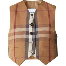 Burberry Check Technical Cotton Cropped Waistcoat found on MODAPINS from Harvey Nichols for USD $864.72