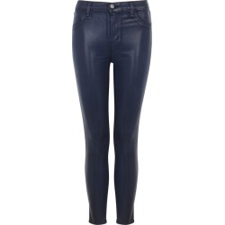 J Brand Alana Navy Coated Skinny Jeans found on MODAPINS from Harvey Nichols for USD $366.48