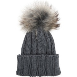 Inverni Cortina Slate Grey Pompom Cashmere Beanie found on MODAPINS from Harvey Nichols for USD $323.21