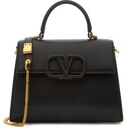 Valentino Garavani VSling Mini Black Leather Top Handle Bag found on Bargain Bro UK from Harvey Nichols