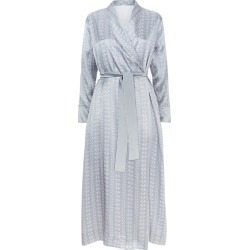 MENG Silver Shawl-collared Robe found on MODAPINS from Harvey Nichols for USD $1029.27