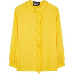 Boutique Moschino Yellow Ruffle-trimmed Blouse found on MODAPINS from Harvey Nichols for USD $165.33