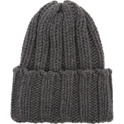 Inverni Leonardo Dark Grey Ribbed Cashmere Beanie found on MODAPINS from Harvey Nichols for USD $213.18