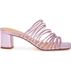 Aeyde Pearl 65 Metallic Purple Leather Sandals found on MODAPINS from Harvey Nichols for USD $209.98