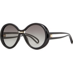 Givenchy GV 7105 Black Round-frame Sunglasses found on MODAPINS from Harvey Nichols for USD $317.95