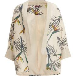 WtR Cardo Cream Linen Tropical Print Kimono Jacket found on MODAPINS from Harvey Nichols for USD $457.10