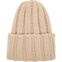 Inverni Leonardo Light Sand Ribbed Cashmere Beanie found on MODAPINS from Harvey Nichols for USD $213.18