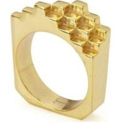 Jewel Tree London Hive Ring 18ct Gold Vermeil