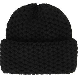 Inverni Giulia Black Chunky-knit Cashmere Beanie found on MODAPINS from Harvey Nichols for USD $343.84