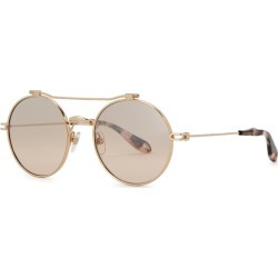 Givenchy Rose Gold-tone Round-frame Sunglasses found on MODAPINS from Harvey Nichols for USD $325.93