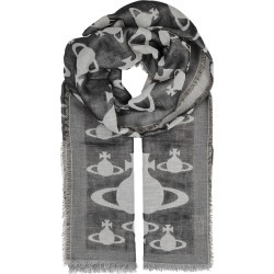 Vivienne Westwood Infinity Orb Grey Cotton Scarf found on MODAPINS from Harvey Nichols for USD $167.74