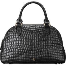 Maxwell Scott Bags Stylish Faux Croc Leather Ladies Bowling Bag In Black found on Bargain Bro UK from Harvey Nichols