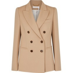 Chloé Camel Double-breasted Wool-blend Blazer found on Bargain Bro UK from Harvey Nichols
