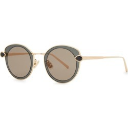 Boucheron Gold-plated Oval-frame Sunglasses found on MODAPINS from Harvey Nichols for USD $999.25