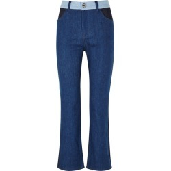 Victoria, Victoria Beckham Cali Colour-block Straight-leg Jeans found on MODAPINS from Harvey Nichols for USD $382.48